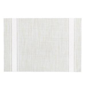 Bistro Stripe Vinyl Placemat White