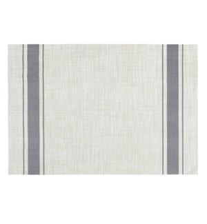 Bistro Stripe Vinyl Placemat Grey