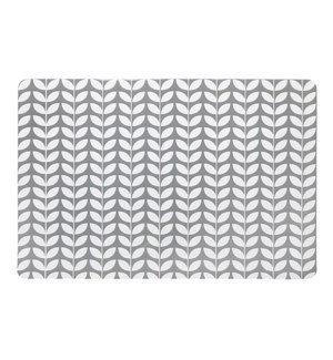 Botanical PVC Placemat Grey