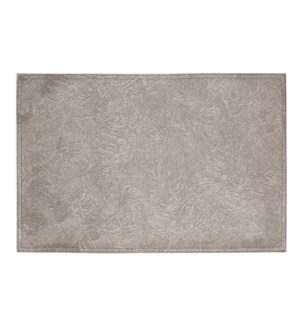 Ultimate Reversible Pvc Faux Leather Brushed Placemat Taupe/Cream