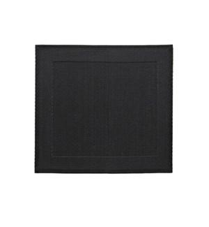 Border Vinyl Placemat Black