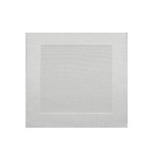 Border Vinyl Placemat Silver