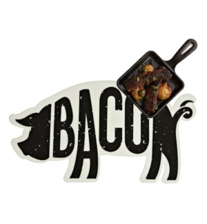 Bacon Soft Touch Placemat Black