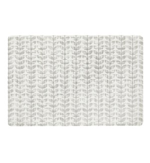 Etch Leaf Printed Soft Touch Placemat Grey