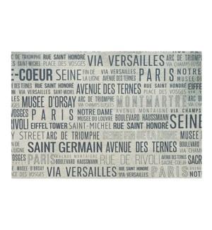 Destination Printed Vinyl Placemat Paris