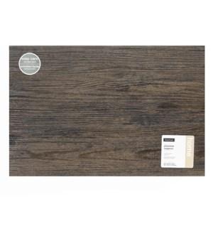 Faux Wood Placemat Dark Chestnut
