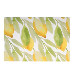 Lemon Printed Vinyl Placemat Yellow