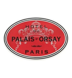Hotel du Paris Soft Touch Placemat Red