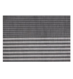 Linen Stripe Vinyl Placemat Black