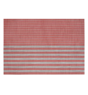 Linen Stripe Vinyl Placemat Red