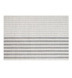 Linen Stripe Vinyl Placemat White