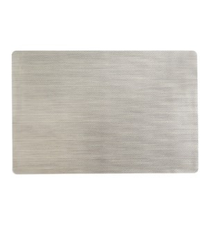 Grid Luxe Vinyl Placemat Champagne
