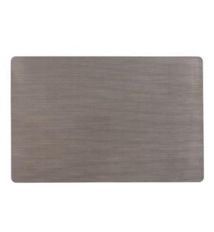 Grid Luxe Vinyl Placemat Graphite