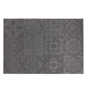Spanish Tile Vinyl Placemat Black