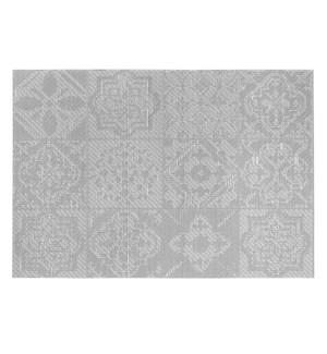 Spanish Tile Vinyl Placemat Grey