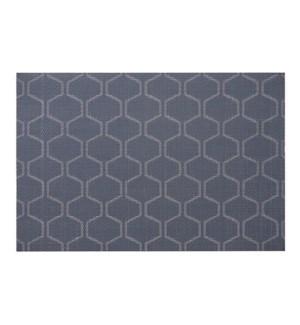 Honeycomb Vinyl Placemat Navy