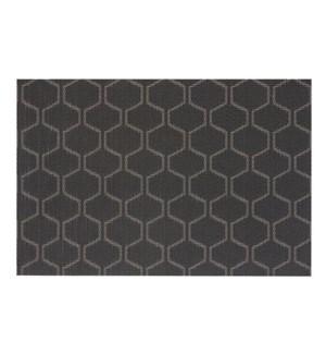 Honeycomb Vinyl Placemat Black