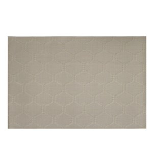 Honeycomb Vinyl Placemat Champagne