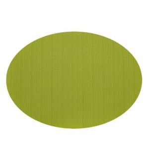 Linnea Rib Oval Vinyl Placemat Green