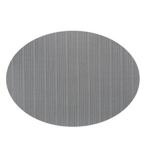 Linnea Rib Oval Vinyl Placemat Black