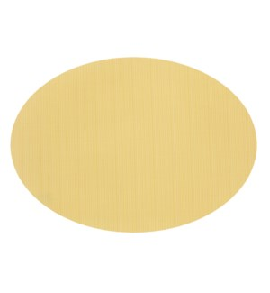 Linnea Rib Oval Vinyl Placemat Yellow
