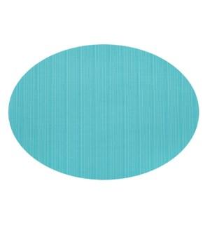 Linnea Rib Oval Vinyl Placemat Aqua