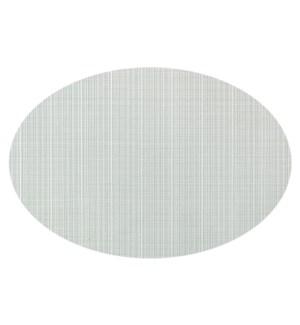 Linnea Rib Oval Vinyl Placemat Silver