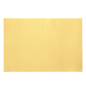 Linnea Rib Vinyl Placemat Yellow
