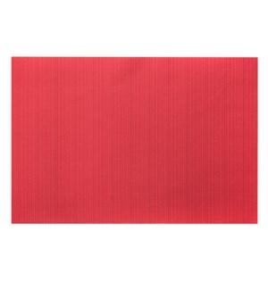 Linnea Rib Vinyl Placemat Red