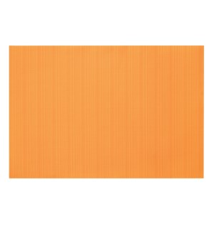 Linnea Rib Vinyl Placemat Orange