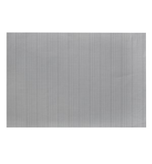 Linnea Rib Vinyl Placemat Grey