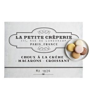 La Petite Creperie Printed Vinyl Placemat Natural