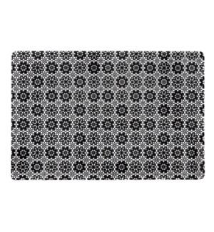 Floral Lace Pvc Soft Vinyl Placemat Black