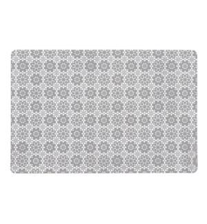 Floral Lace Pvc Soft Vinyl Placemat Grey