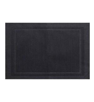 Lustre Rectangle Placemat Black