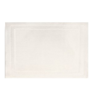Lustre Rectangle Placemat White