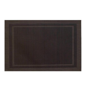 Lustre Rectangle Placemat Brown