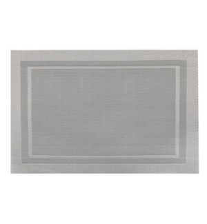 Lustre Rectangle Placemat Silver
