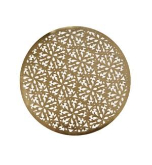 Modern Laser Cut Vinyl Placemat Gold