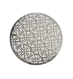 Modern Laser Cut Vinyl Placemat Silver