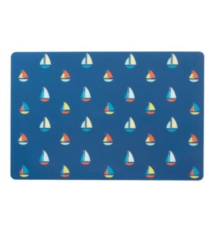 Sailboat Soft Touch Placemat Blue