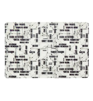 New York Subway Soft Touch Placemat Black