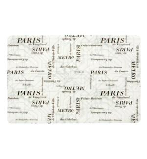 Paris Subway Soft Touch Placemat Black