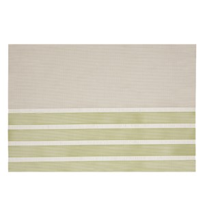 Pacific Stripe Vinyl Placemat Green