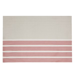 Pacific Stripe Vinyl Placemat Red