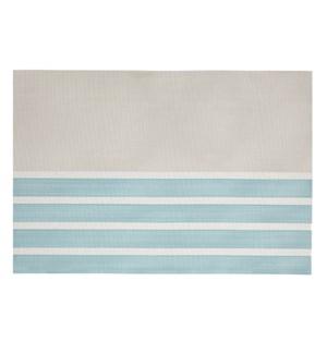 Pacific Stripe Vinyl Placemat Aqua