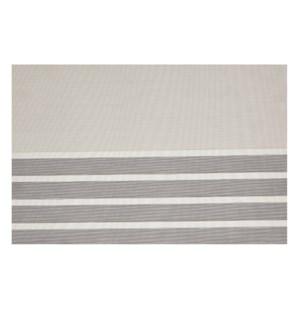 Pacific Stripe Vinyl Placemat Charcoal