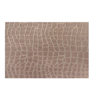 Jacquard Snake Placemat  Champagne