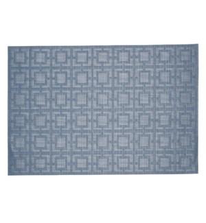 Squares Vinyl Placemat Blue