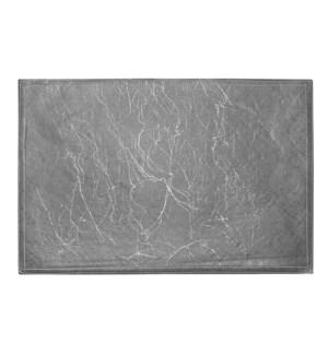 Ultimate Reversible Pvc Faux Leather Script Placemat Black/Silver